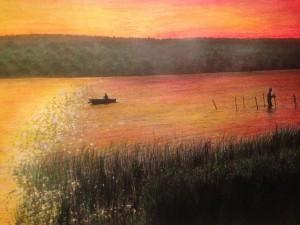 Coucher de soleil à Silver Lake